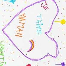 Dibujo de Corentin Perroux de St Alban Leysse (Francia) - Dibujar Dibujos - Dibujos infantiles para IMPRIMIR - Dibujos DIA DE LA MADRE para imprimir - Dibujos del DIA DE LA MADRE por niños de 7 a 10 años