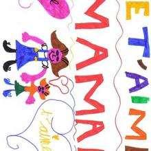 Dibujo del dia de la madre de Anael (Francia) - Dibujar Dibujos - Dibujos infantiles para IMPRIMIR - Dibujos DIA DE LA MADRE para imprimir - Dibujos del DIA DE LA MADRE por niños de 7 a 10 años