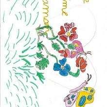 Dibujo del dia de la madre de Chloe Mainge (Francia) - Dibujar Dibujos - Dibujos infantiles para IMPRIMIR - Dibujos DIA DE LA MADRE para imprimir - Dibujos del DIA DE LA MADRE por niños de 7 a 10 años