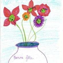 Ilustración : Dibujo para el dia de la madre de Chloe Taillades (Francia)
