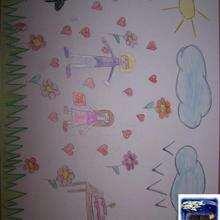 Dibujo dia de la madre de Maria Lorca - Dibujar Dibujos - Dibujos infantiles para IMPRIMIR - Dibujos DIA DE LA MADRE para imprimir - Dibujos del DIA DE LA MADRE por niños de 7 a 10 años