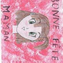 Dibujo de Marie Bernez (Francia) - Dibujar Dibujos - Dibujos infantiles para IMPRIMIR - Dibujos DIA DE LA MADRE para imprimir - Dibujos de niños de más de 10 años DIA DE LA MADRE
