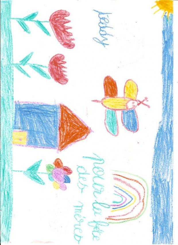 Dibujo del dia de la madre de Teddy Beaubrun (Francia)