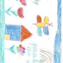 Dibujo del dia de la madre de Teddy Beaubrun (Francia) - Dibujar Dibujos - Dibujos infantiles para IMPRIMIR - Dibujos DIA DE LA MADRE para imprimir - Dibujos de niños de 4 a 6 años DIA DE LA MADRE