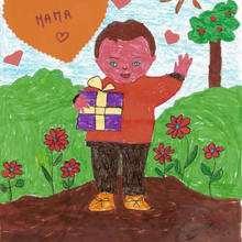 Dibujo del dia de la madre de Juan Castillo (España) - Dibujar Dibujos - Dibujos infantiles para IMPRIMIR - Dibujos DIA DE LA MADRE para imprimir - Dibujos del DIA DE LA MADRE por niños de 7 a 10 años