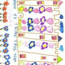 Dibujo de Chloé Quillerier (Francia) - Dibujar Dibujos - Dibujos infantiles para IMPRIMIR - Dibujos DIA DE LA MADRE para imprimir - Dibujos del DIA DE LA MADRE por niños de 7 a 10 años