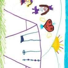 Dibujo de Eleonora (Alcala de Henares - España) - Dibujar Dibujos - Dibujos infantiles para IMPRIMIR - Dibujos DIA DE LA MADRE para imprimir - Dibujos de niños de 4 a 6 años DIA DE LA MADRE