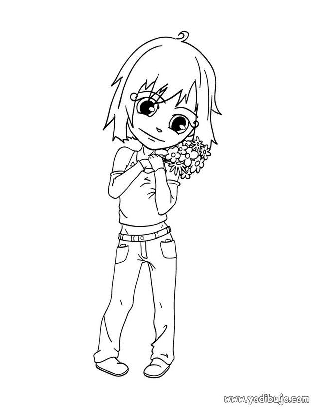 Dibujos para colorear flores para mamá (niña) - es.hellokids.com