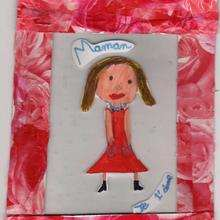 Dibujo de Maureen Dilo (Francia) - Dibujar Dibujos - Dibujos infantiles para IMPRIMIR - Dibujos DIA DE LA MADRE para imprimir - Dibujos de niños de 4 a 6 años DIA DE LA MADRE