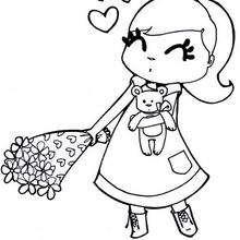 Dibujo para colorear : San Valentín corazon