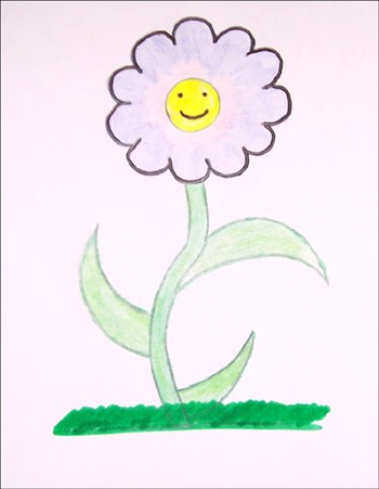 Curso para dibujar : Dibujar una FLOR PRIMAVERA