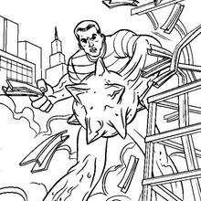 dibujo para pintar el Hombre de Arena - Dibujos para Colorear y Pintar - Dibujos para colorear SUPERHEROES - Dibujos para colorear SPIDERMAN - Dibujos para colorear HOMBRE ARENA