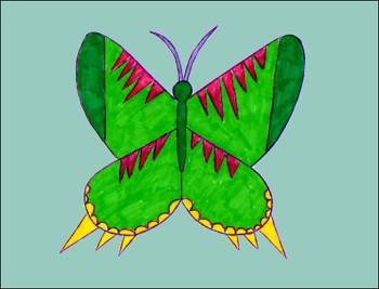 dibujo-papilio-insecto