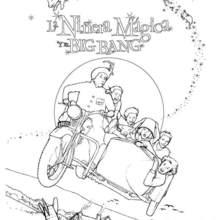 Dibujo para colorear cartel pelicula niñera magica y el big bang - Dibujos para Colorear y Pintar - Dibujos de PELICULAS colorear - Dibujos para colorear LA NIÑERA MÁGICA Y EL BIG BANG