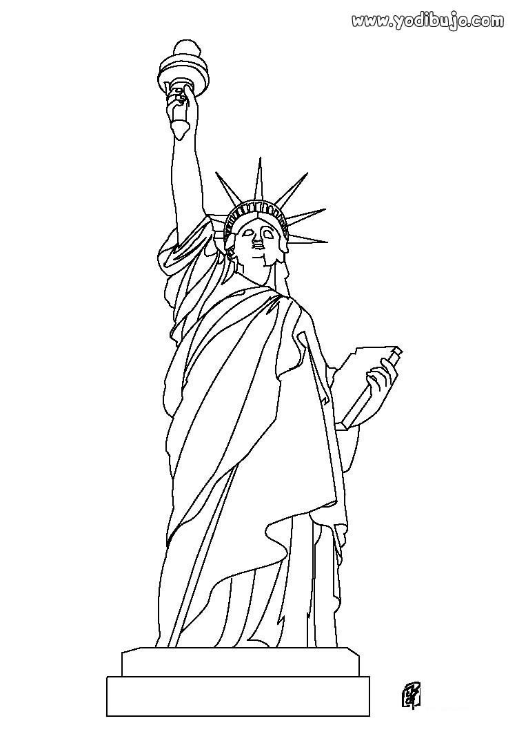 Dibujo para colorear : ESTATUA DE LA LIBERTAD