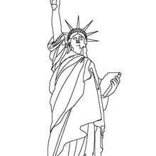 Dibujo para colorear ESTATUA DE LA LIBERTAD - Dibujos para Colorear y Pintar - Dibujos para colorear los PAISES - los ESTADOS UNIDOS para colorear - NUEVA YORK para colorear