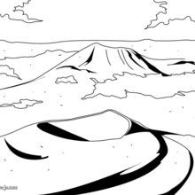 Dibujos para colorear VOLCANES FRANCIA - Dibujos para Colorear y Pintar - Dibujos para colorear los PAISES - FRANCIA para colorear - Dibujos para colorear MONTAÑAS FRANCIA
