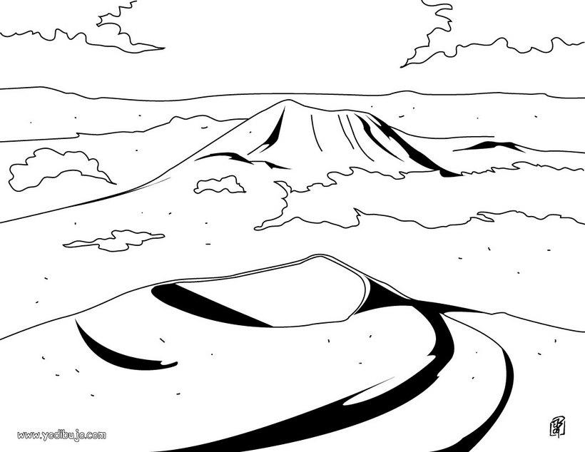 Dibujo para colorear : VOLCANES FRANCIA