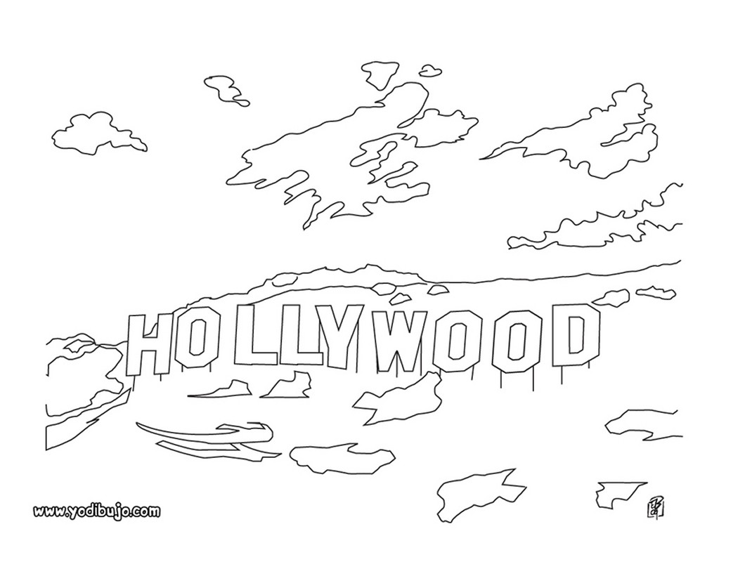 Dibujos para colorear hollywood - es.hellokids.com