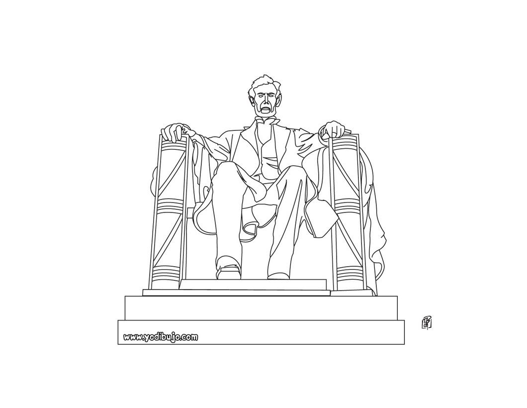 Dibujos para colorear lincoln memorial - es.hellokids.com