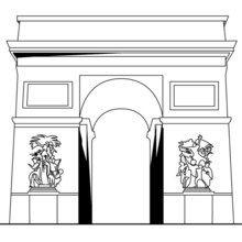 Dibujo para colorear ARCO DE TRIUNFO - Dibujos para Colorear y Pintar - Dibujos para colorear los PAISES - FRANCIA para colorear - Dibujos para colorear MONUMENTOS PARIS