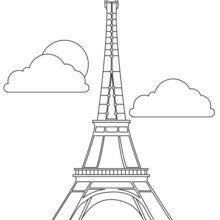 Dibujo para colorear TORRE EIFFEL - Dibujos para Colorear y Pintar - Dibujos para colorear los PAISES - FRANCIA para colorear - Dibujos para colorear MONUMENTOS PARIS