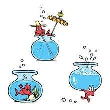 Imagen : Dibujo Gaturro peces