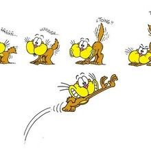 Dibujo gaturro salto - Dibujar Dibujos - Dibujos para VER - Dibujos GATURRO - Sequencias de dibujos GATURRO