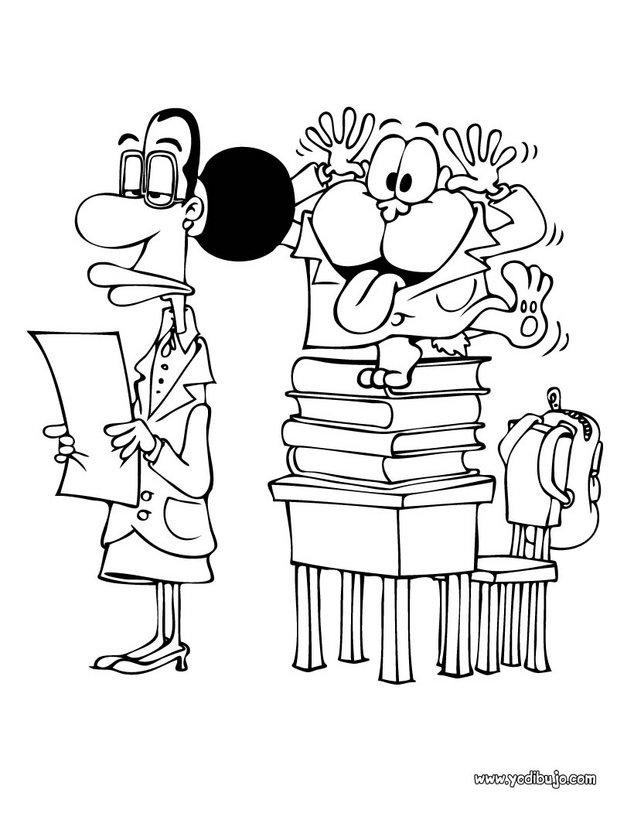 Dibujos para colorear gaturro escuela - es.hellokids.com