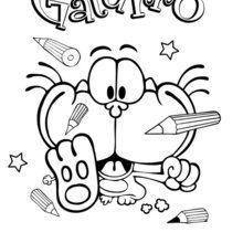 Dibujo para colorear GATURRO ESCRITURA - Dibujos para Colorear y Pintar - Dibujos para colorear PERSONAJES - PERSONAJES COMIC para colorear - Dibujos para colorear GATURRO - Dibujos para pintar GATURRO