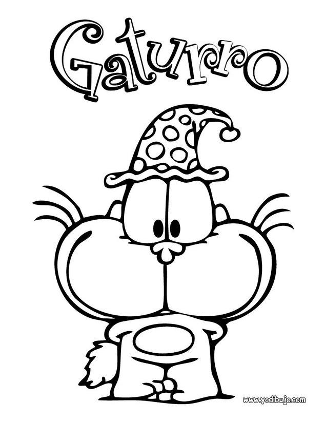 Dibujos para colorear GATURRO - 16 dibujos infantiles para colorear ...
