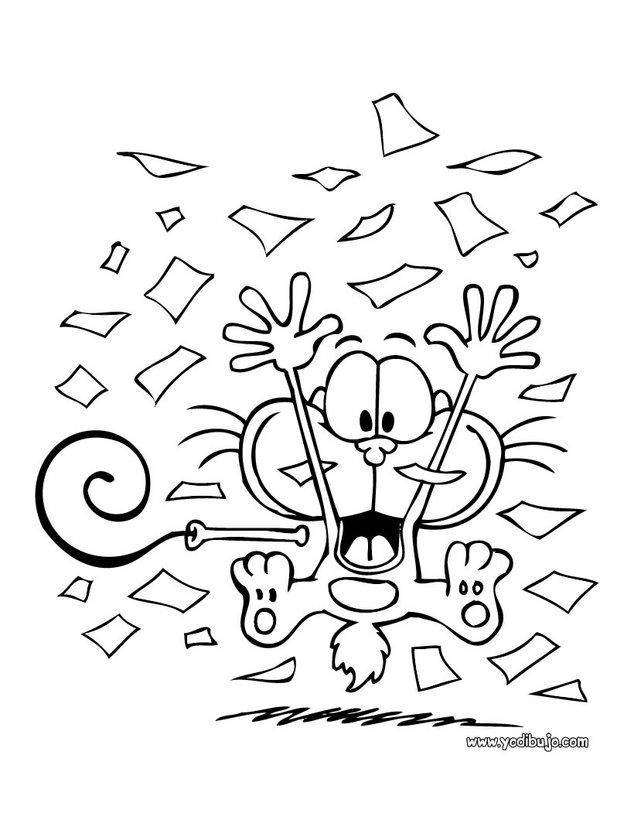 Dibujos para colorear gaturro musica - es.hellokids.com