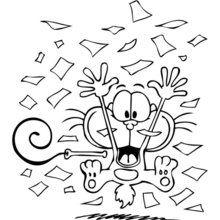 Dibujo para colorear GATURRO FESTEJO - Dibujos para Colorear y Pintar - Dibujos para colorear PERSONAJES - PERSONAJES COMIC para colorear - Dibujos para colorear GATURRO - Dibujos para colorear gratis GATURRO