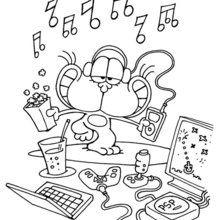 Dibujo para colorear GATURRO MUSICA - Dibujos para Colorear y Pintar - Dibujos para colorear PERSONAJES - PERSONAJES COMIC para colorear - Dibujos para colorear GATURRO - Dibujos para pintar GATURRO