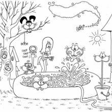 Dibujo para colorear GATURRO Y AMIGOS - Dibujos para Colorear y Pintar - Dibujos para colorear PERSONAJES - PERSONAJES COMIC para colorear - Dibujos para colorear GATURRO - Dibujos para colorear gratis GATURRO