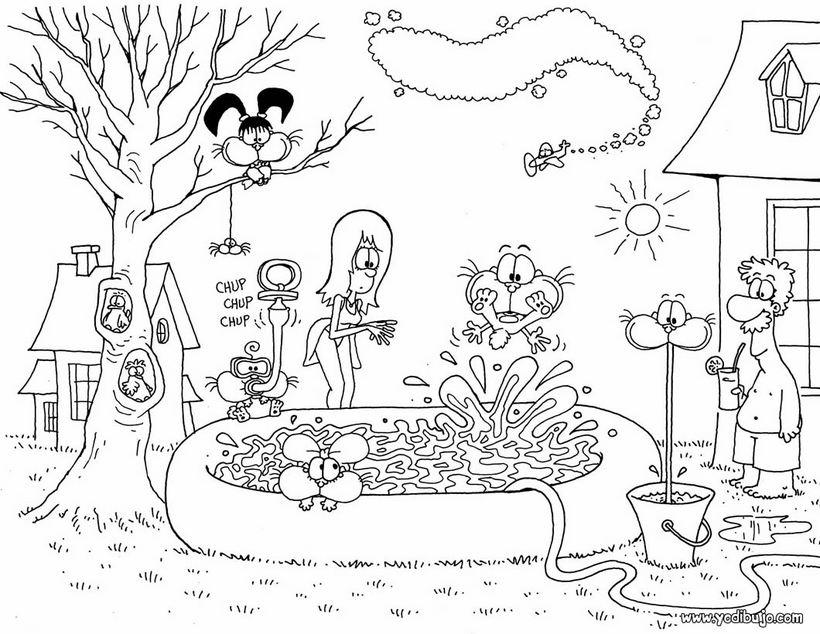 Dibujo para colorear GATURRO Y AMIGOS - Dibujos para colorear gratis ...