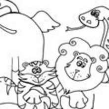 Dibujos ANIMALES DE LA SABANA para colorear - Dibujos para colorear ANIMALES - Dibujos para Colorear y Pintar