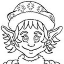 Dibujos DUENDES DE NAVIDAD para colorear - Dibujos para colorear FIESTAS - Dibujos para Colorear y Pintar