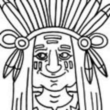 Vaqueros e indios: dibujos para pintar - Dibujos para colorear PERSONAJES - Dibujos para Colorear y Pintar