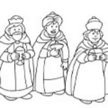 Dibujos para colorear de los REYES MAGOS de Navidad - Dibujos para colorear FIESTAS - Dibujos para Colorear y Pintar