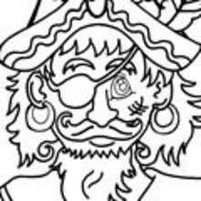 barco, Dibujos de PIRATAS para colorear