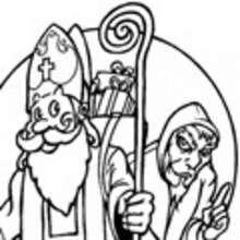 Dibujo para colorear : retrato de Santa Claus