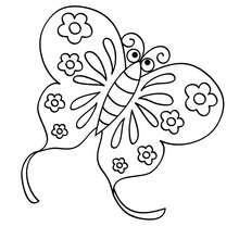 Dibujo de MARIPOSA LARGATA - Dibujos para Colorear y Pintar - Dibujos para colorear ANIMALES - Dibujos INSECTOS para colorear - Dibujos para colorear MARIPOSAS - Colorear MARIPOSA DE COLORES