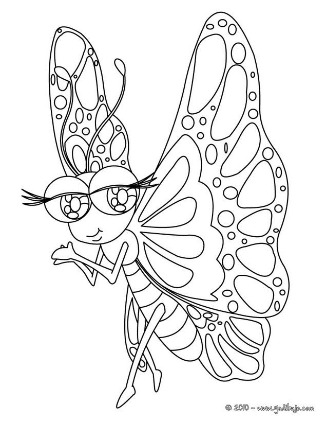 Dibujos para colorear mariposa seductora - Plantillas de mariposas para pintar ...