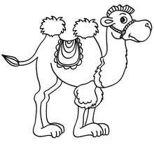 dibujo de un camello para colorear - Dibujos para Colorear y Pintar - Dibujos para colorear ANIMALES - Dibujos ANIMALES SALVAJES para colorear - Dibujos para colorear e imprimir ANIMALES SALVAJES - Colorear CAMELLO