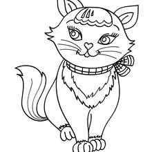 Dibujo para colorear : Cachorro Gato Angora Turco