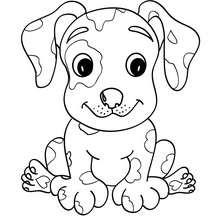 Dibujo para colorear CACHORRO DALMATA - Dibujos para Colorear y Pintar - Dibujos para colorear ANIMALES - Dibujos PERROS para colorear - Dibujos para colorear CACHORROS