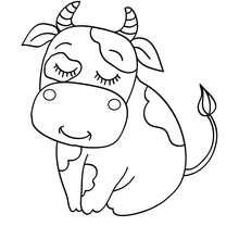 Dibujo para pintar TERNERO - Dibujos para Colorear y Pintar - Dibujos para colorear ANIMALES - Dibujos ANIMALES DE GRANJA para colorear - Colorear TERNERO