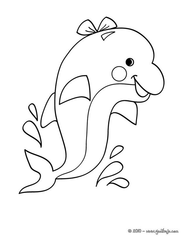 dibujo para colorear un delfin saltando dibujo para colorear un delfin ...