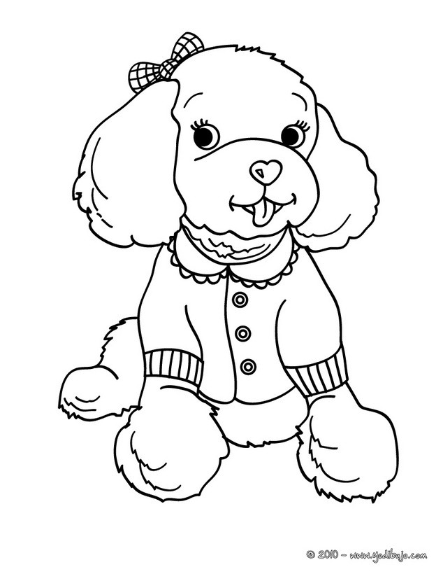 Dibujos PERROS para colorear, cachorro Cocker Spaniel para imprimir
